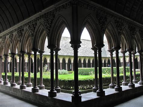 Medieval - Cloisters of Mont Saint-Michel Normandy, France