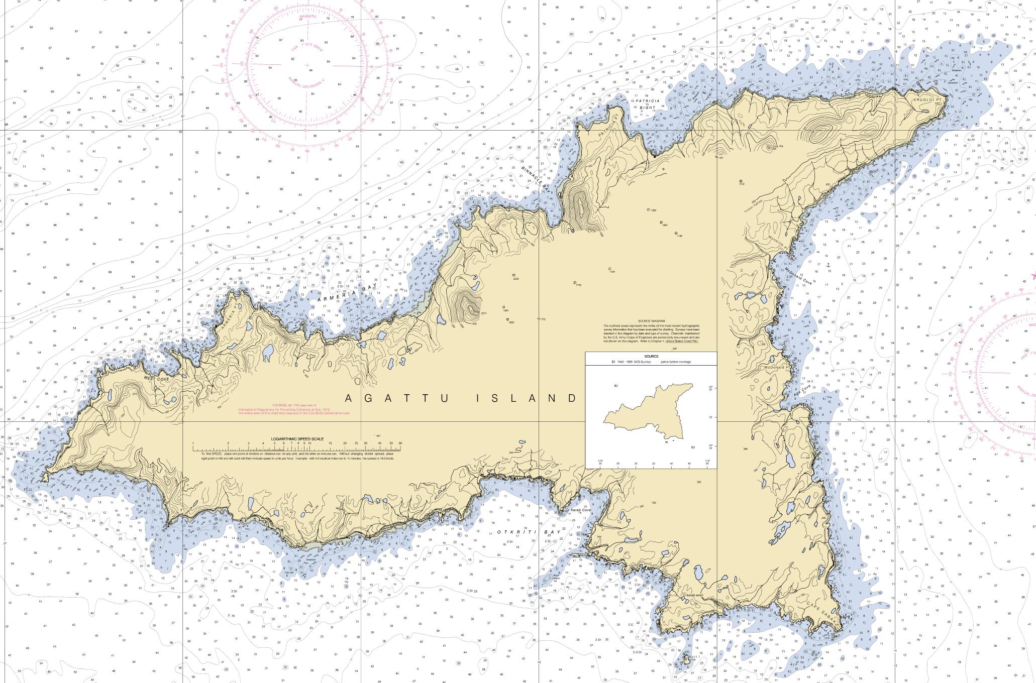 Near Islands - Agattu Map