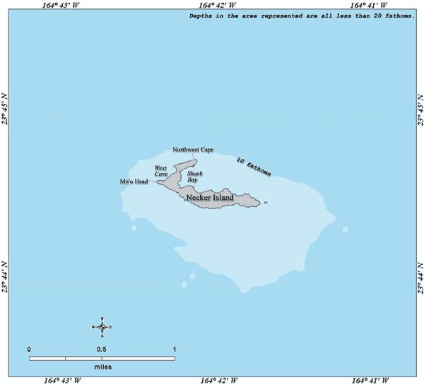 Necker Island Hawaii map