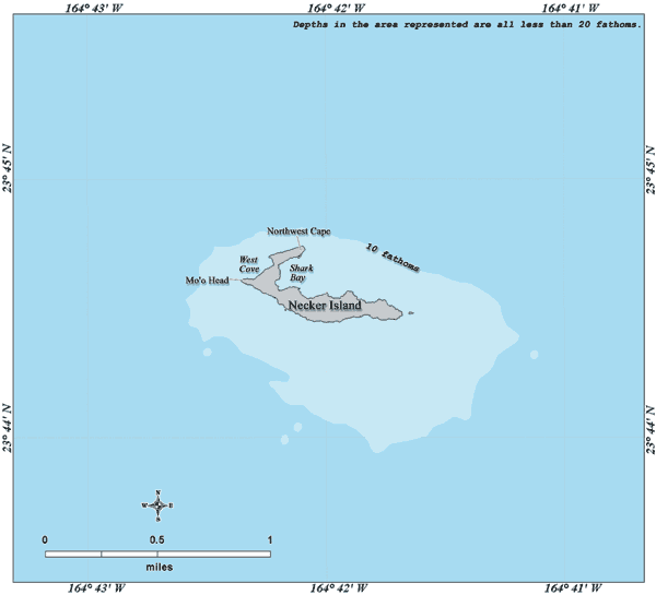 Necker Island Hawaii map