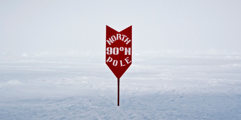 North Pole marker