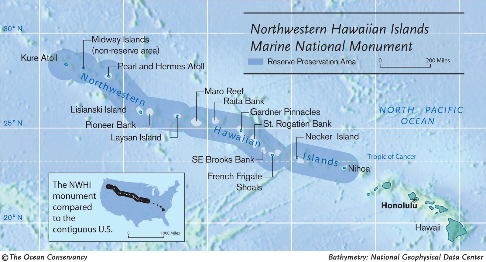 Northwestern Hawaiian Islands map