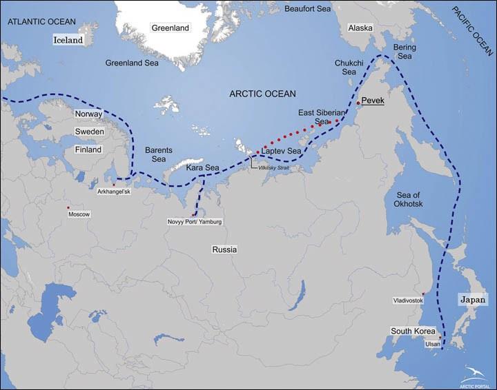 Pevek, Siberia map