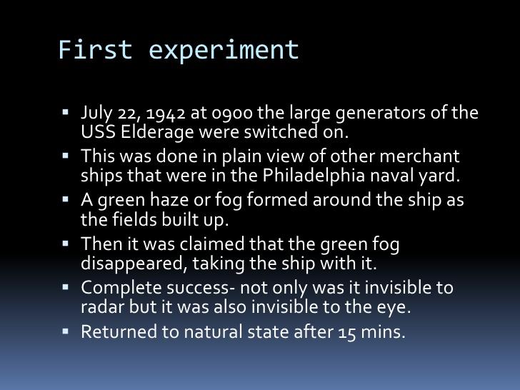 Philadephia Experiment 6