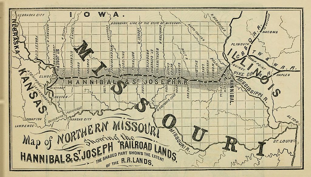 This image has an empty alt attribute; its file name is c19a9-1860-hannibal_and_st._joseph_railroad.jpg